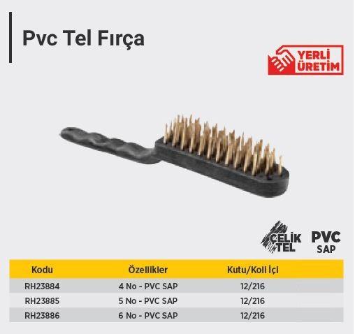 RTR (RH23886) 6 NO PVC TEL FIRÇA (1 Adet)
