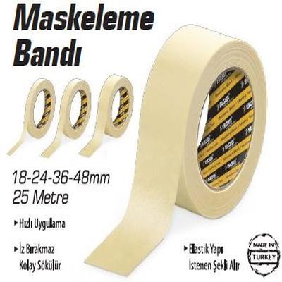 SGS MASKELEME BANT 36 mm / 25 Mt SGS2502 (12 Adet)