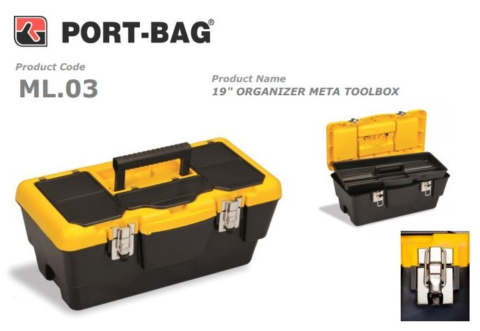 Port-Bag 19 NO META S?YAH METAL K?L?TL? ÇANTA (ML03) (1 Adet)