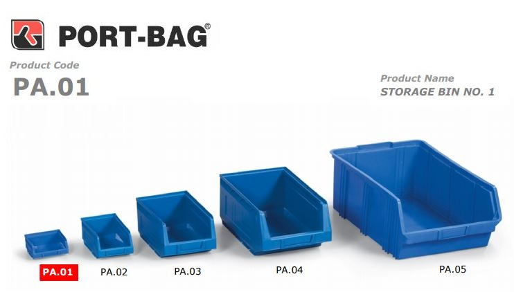 Port-Bag 1 NO MAVİ AVADANLIK (PA01) (1 Adet)