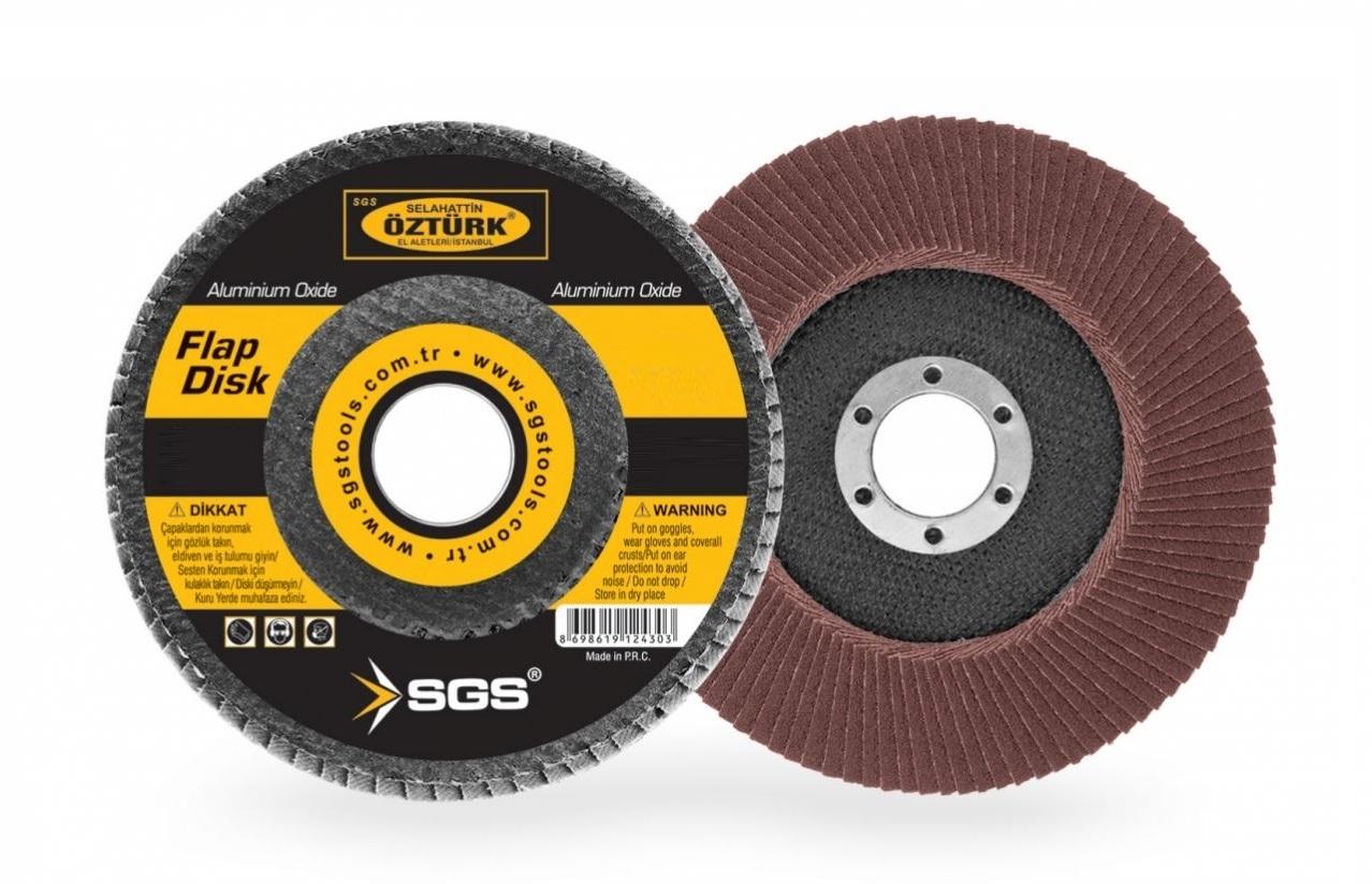 SGS 115*40 KUM FLAP DİSK ZIMPARA SGS430 (1 Adet)