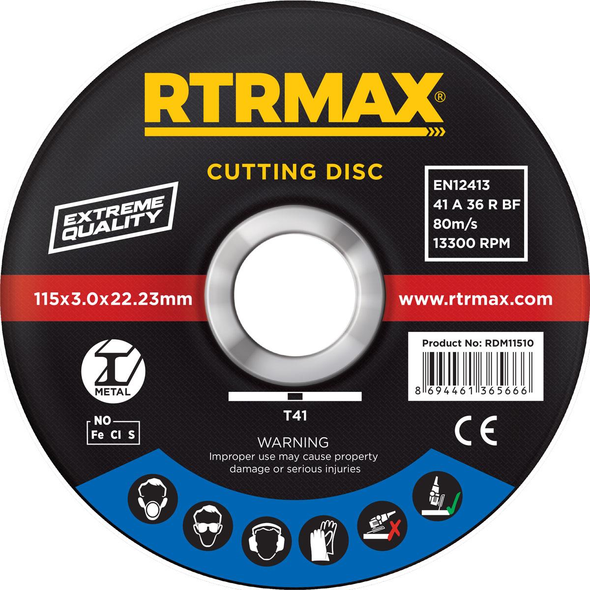RTR (RDM18030) 180x3.0x22mm METAL KESİCİ (1 Adet)