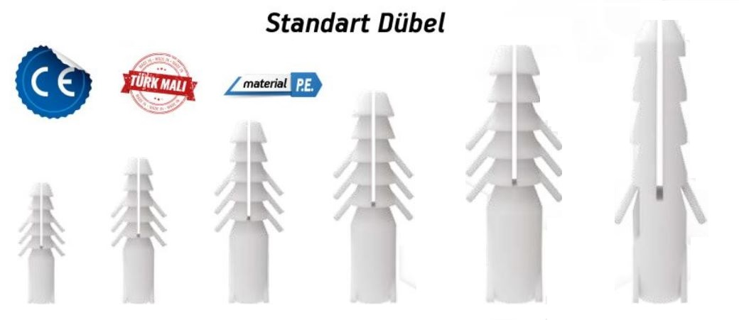 Made DÜBEL 10 mm ?EFFAF (500 Adet) (1 Paket)