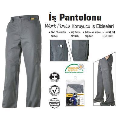 SGS GRİ İŞ PANTOLONU SGS704-XL (1 Adet)